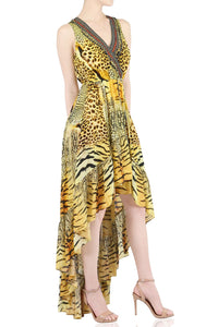 Animal print Hi-Low Dress