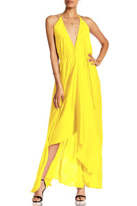 Solid-Yellow-Maxi-Dress-3-Ways-To-Wear