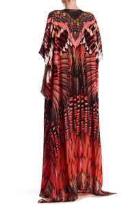 Multiway Long Kaftan in Red-BJ