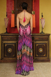 3 Ways to Wear Long Dress in Fuchsia