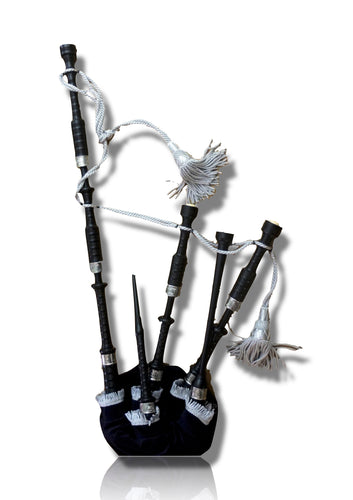 Highland Bagpipe Delrin Synthetic Full Ferules Engraved - Bagpipes Galore