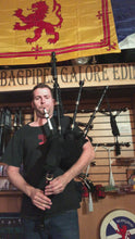 Load and play video in Gallery viewer, Highland Bagpipe Delrin Synthetic Full Ferules Engraved