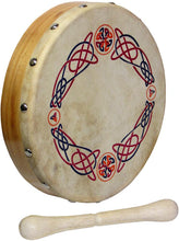 "Load image into Gallery viewer, Glenluce 8"" Bodhran with Beater - Choose Your Design! - Bagpipes Galore"