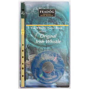 irish tin whistle kit feadog whistle, book and cd