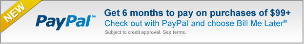PayPal Bill Me Later - 6 month financing