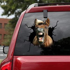 Horse Crack Car Sticker Cattle Lover (30)