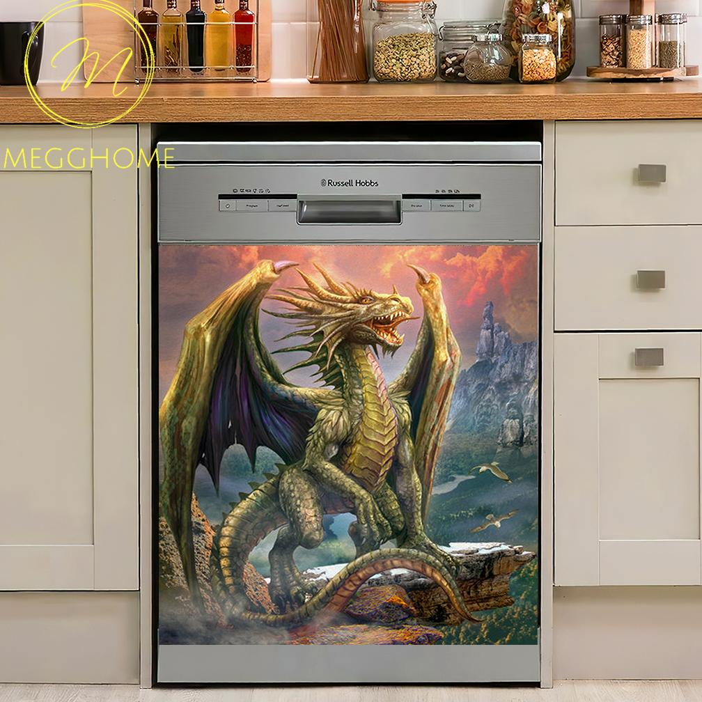 Fantasy Dragon Kitchen Decor Dishwasher Cover 04