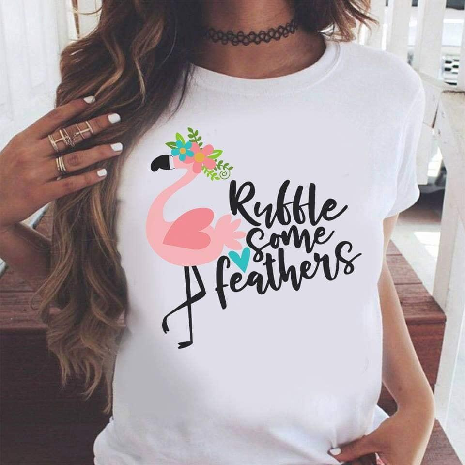 Flamingo Rubble Some Feathers T-Shirt