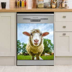 Sheep Decor Kitchen Dishwasher Cover