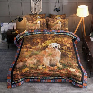 GOLDEN RETRIEVER BEDDING SET 048
