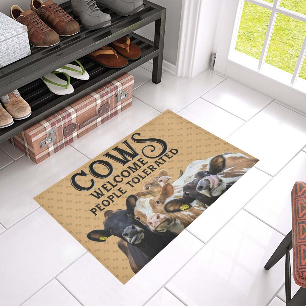 Cows Welcome People Tolerated Doormat