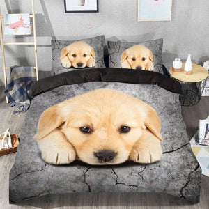 GOLDEN RETRIEVER LOVER BEDDING SET 001