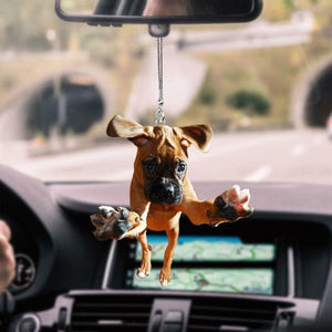 BOXER DOG BX34 NTA020398 DKN20 CAR HANGING ORNAMENT