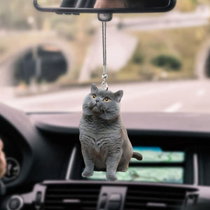 BRITISH SHORTHAIR CAR HANGING ORNAMENT cat