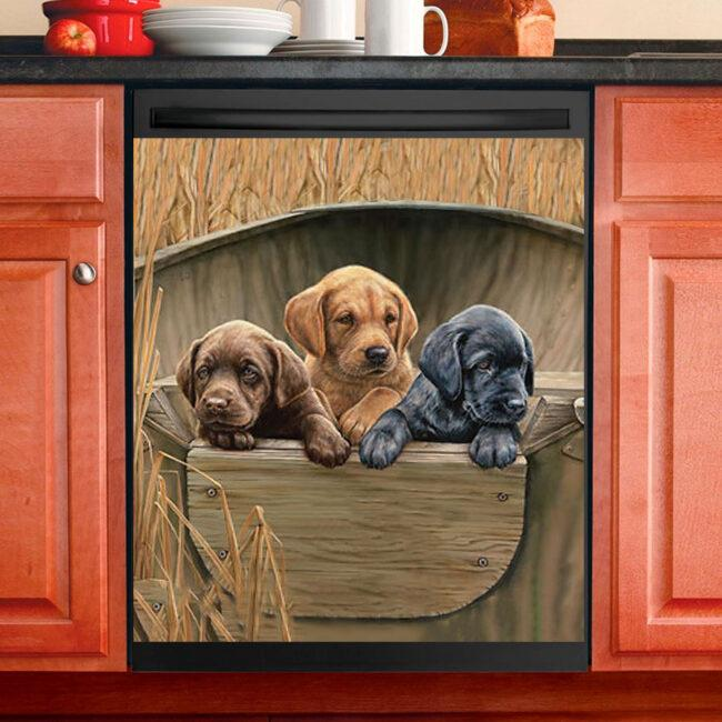 Dog Decor Kitchen Dishwasher Cover