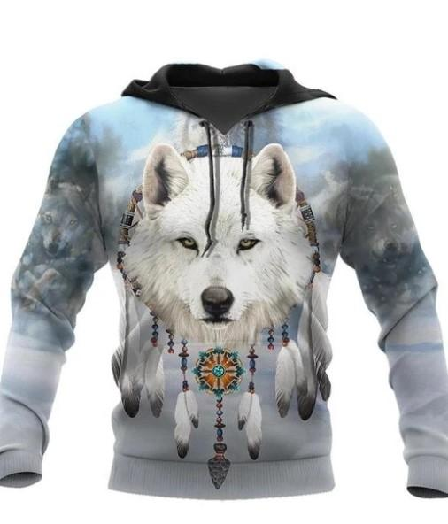 Native Wolf 3D All Over Print Hoodie For Men and Women NTN09052002