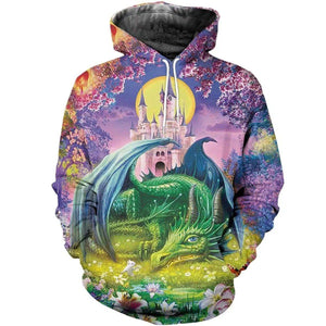 3D All Over Print Dragon Hoodie NM050916