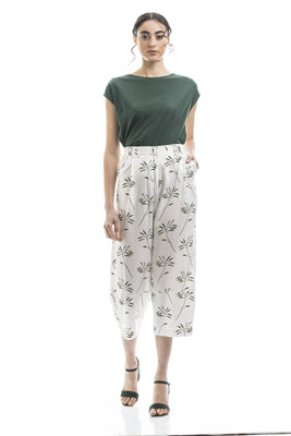 PANTALONE NEW BAGGY VISCOSA STAMPA FOREST