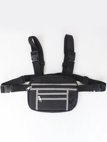 BLACK CHEST BAG