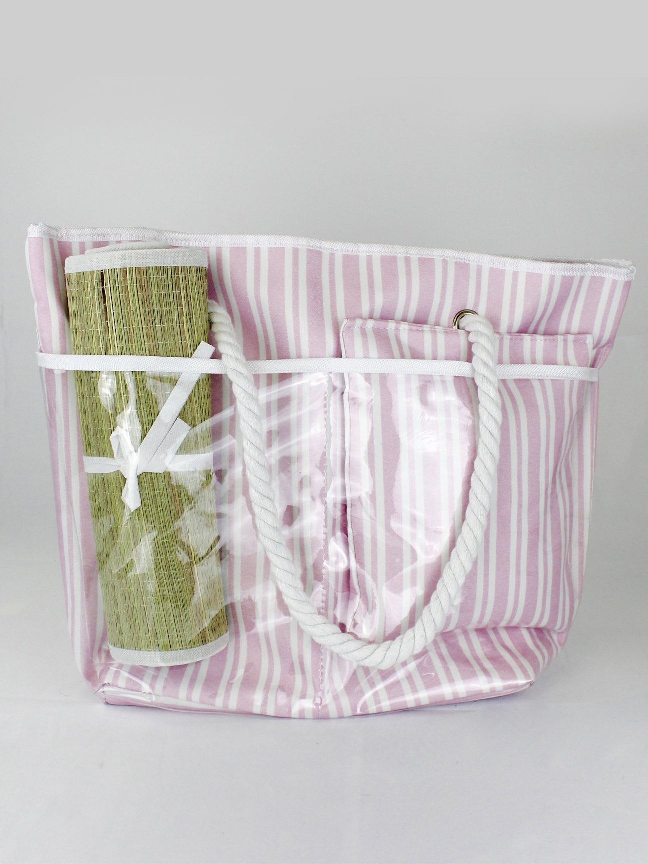 STRIPED BEACH BAG