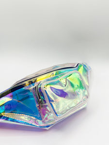 HOLOPGRAPHIC PVC CROSS BODY BAG