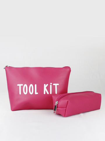 PACK OF 2 COSMETIC BAG