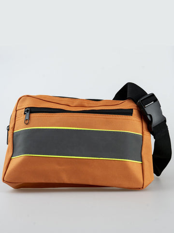 REFLECTIVE ORANGE CROSS BODY BAG