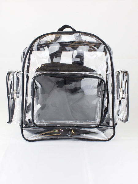 PVC Clear Backpack with Multi Pockets