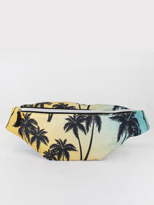 PALM TREE PRINT BUM BAG