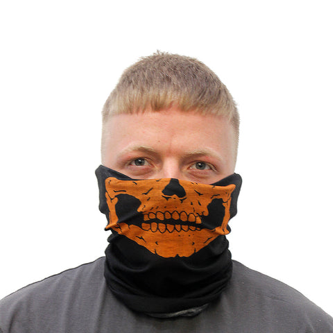 Skull Mouth 12in1 Multi-functional Head wear - Orange