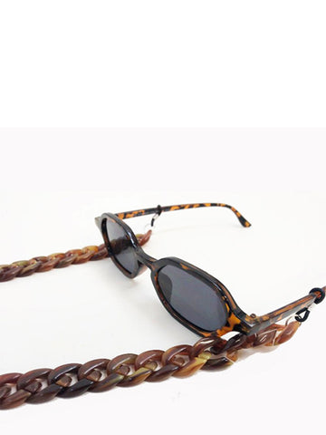 Chunky sunglasses chain in Tortoiseshell