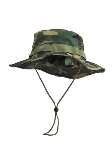Green Camo Safari Hat with Toggle Adjuster