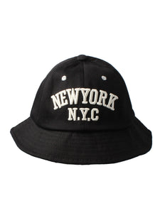 NYC New York Black Bucket Hat
