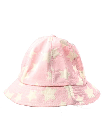 Pink Bucket Hat with Stars Print