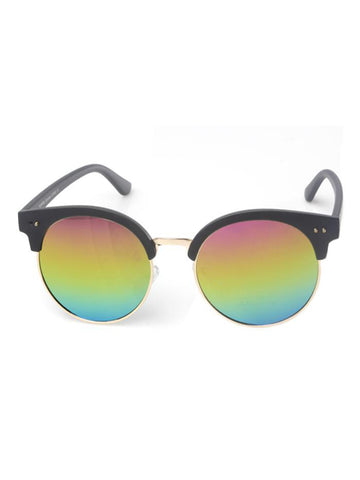 Round Sunglasses with Rainbow Lenses