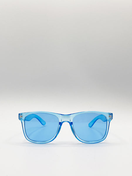 Clear Wayfarer Sunglasses with clear lenses