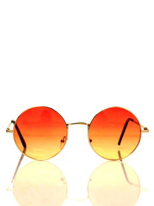 Round Sunglasses with Orange Faded Lenses