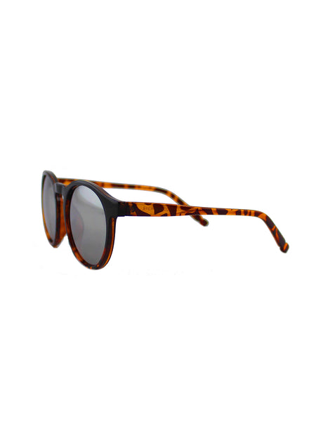 Two Tone Round  Retro Style  Sunglasses
