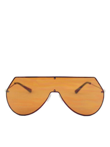 Frameless Visor Sunglasses With Brown Revo Lenses