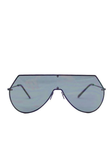 Frameless Visor Sunglasses With Black Lenses