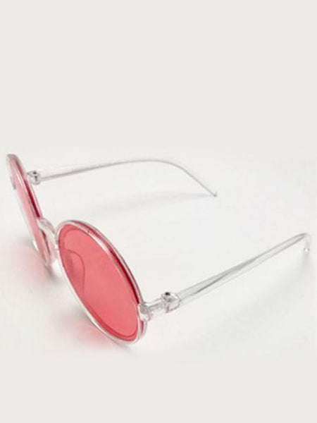Clear Frame Sunglasses with Red Lens