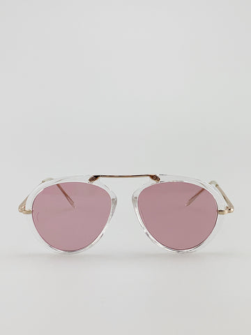 Clear Frame  Aviator Sunglasses