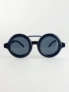 Chunky Round Retro Sunglasses