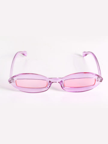 Trend Cateye Sunglasses With Rectangular Lenses