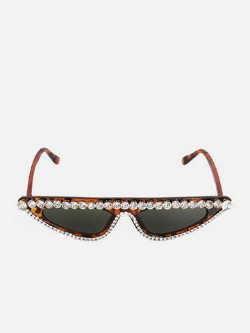 Extreme Cat Eye Diamante Sunglasses
