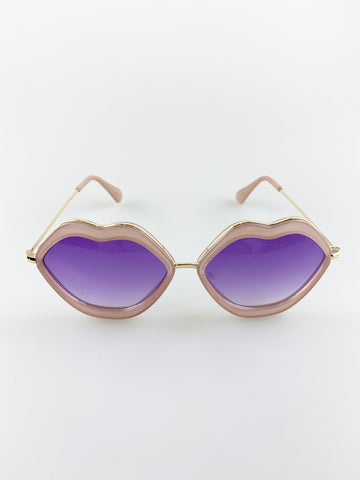 Purple Ombre Lense Lips Sunglasses
