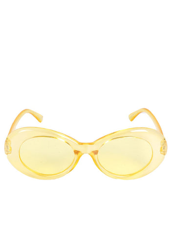 Glitter Lens Sunglasses with Yellow Frame