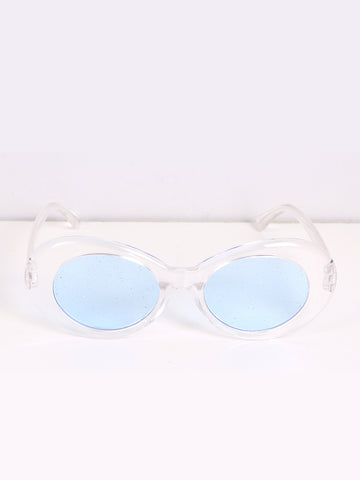 Glitter Lense Sunglasses with Blue Lense