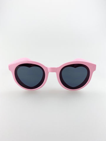 Round Sunglasses with heart lenses