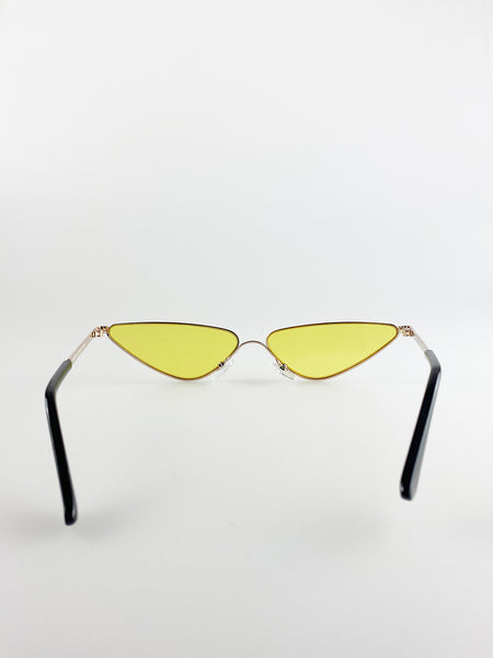 Triangle Metal  Extreme Cat Eye Sunglasses